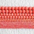 Precio al por mayor natural rosa coral perlas redondas 2mm 3mm 4mm 6mm 7mm diy de los granos flojos fabricación de joyas envío gratis 15 pulgadas B651