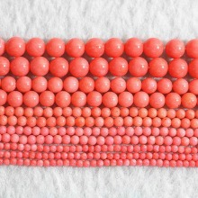 Wholesale price natural pink coral round beads 2mm 3mm 4mm 6mm 7mm diy loose beads elegant women jewelry findings 15inch B651