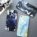 Espacio luna caliente mapa case capa de piedra de mármol coque teléfono delgado de plástico duro case cover para iphone 7 7 plus 5 5g 5S se 6 6g 6 s 6 Plus