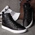 2014 de Los Hombres de Martin Botas de Invierno Cálido Cremallera + Hebilla Zapatos de Los Hombres de Los Hombres de Moda Botas De Goma 2 Colores