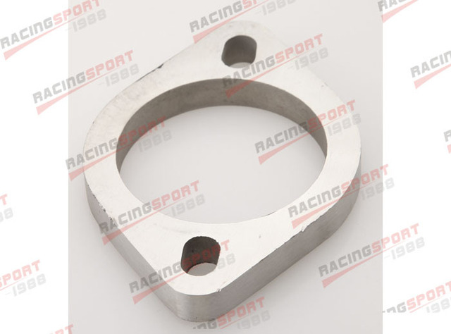 """2.25"""" 2 Bolt SS304 Slotted Flange Exhaust Downpipe Pipe Catback Header 1/2"""" Thick"""