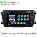 "HD 1024*600 8 ""Quad Core Android 5.1.1 Автомобиля DVD GPS Для Mazda CX-9 CX9 2012-2015 Стерео Радио Видео Плеер + CANBUS"