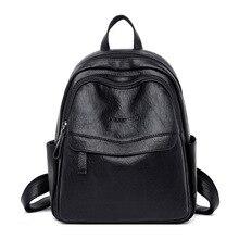 Mochila feminina designer de alta qualidade saco de couro mochilas para mulheres meninas moda sacos de escola marca preto sacos de viagem