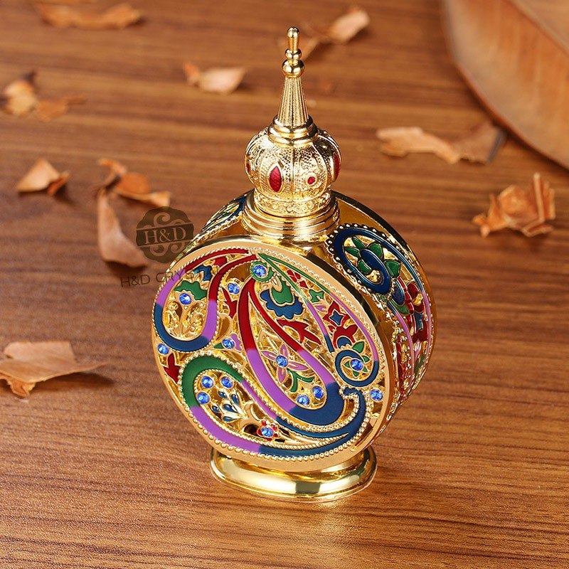 18ML Retro Antique Glass Perfume Bottle 1.4 inch Flower Vine Empty Glass Cosmetic Container Wedding Decoration Perfume Bottle6)
