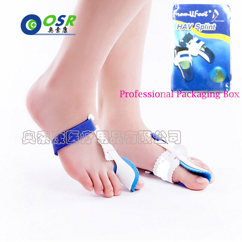 Hallux Valgus Orthosis Toe Separator Correction Device HAV Splint With Packing Box Free Care Thumb Separator Big Toe Fore Foot