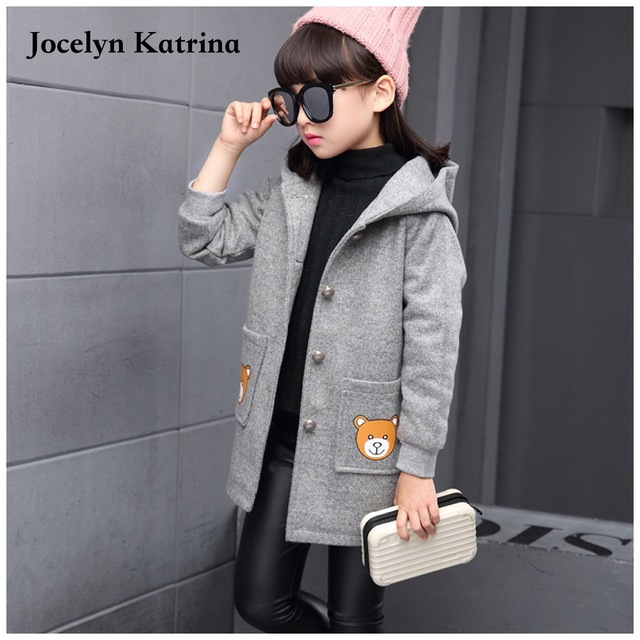 New Arrival Spring Autumn Children Girls European Jackets Child Long Outwear Girls Trench Coat Jacket 3-14 Years