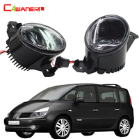 Cawanerl 1 Pair Car LED Fog Light White DRL Daytime Running Lamp Accessories For 2003 2012