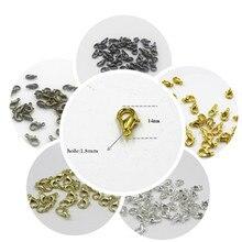 Застежки-карабины для ювелирных изделий, серебристые/золотистые/Бронзовые, 30 шт., 14 мм, RX1012