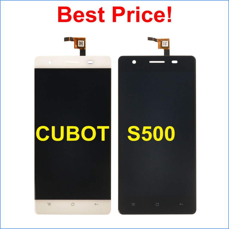 LCD Display +Digitizer Touch Screen Assembly For CUBOT S500 Cellphone 5.0 Black / White color In Stock!