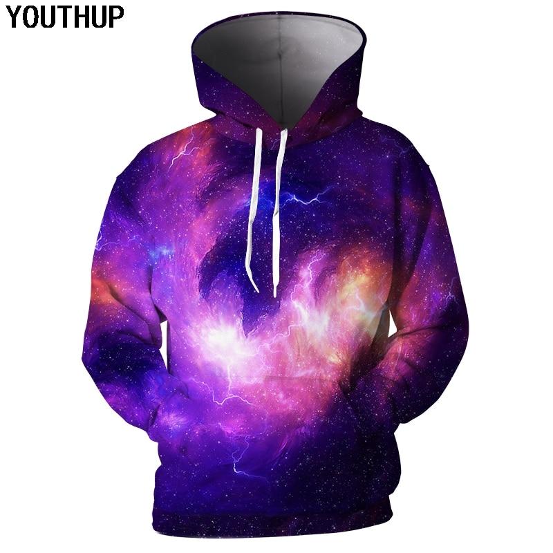 YOUTHUP 2018 3d Hoodies Men Cool Male Coat Galaxy Nebula ...