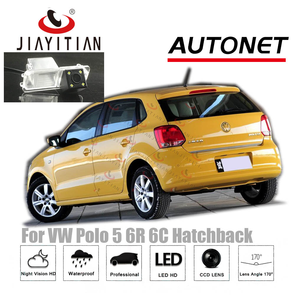 JiaYiTian Rear View Camera For VW Polo 5 Hatchback 2009~2017 Mk5 6R 6C CCD Night Vision Reverse Camera License Plate Camera