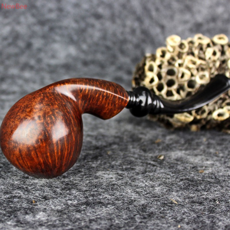 zt4 handmade briar wood tobacco pipe classic look smoking pipe for men with free type acrylic bent mouthpiece china factory sale