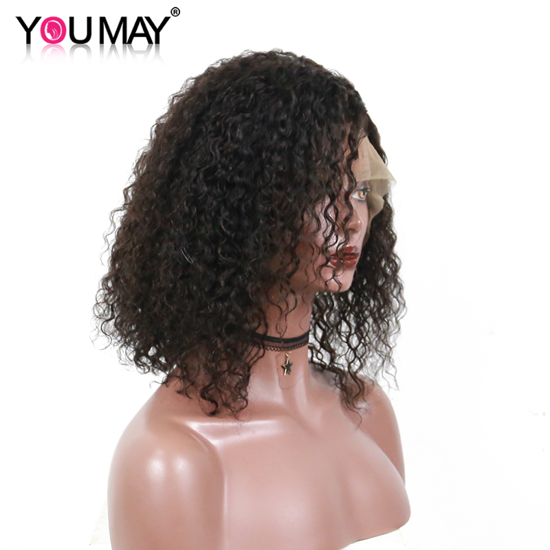 13x6 Curly Bob Wigs For Women Short Lace Front Human Hair Wigs With Baby Hair Brazilian