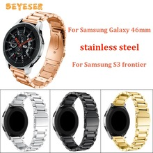 22mm For Samsung Galaxy 46mm/gear S3 watch band Stainless steel Replacement for huawei watch GT Bracelet watch strap wristband stainless steel for huawei watch gt watches strap 22mm for samsung galaxy 46mm gear s3 watch band replacement bracelet wristband