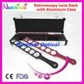 E03-11 suprimentos de alta qualidade óptica de prova retinoscopia Lens Board Kit conjunto de Rack de 4 barras de plástico de caso de alumínio menor custo de transporte