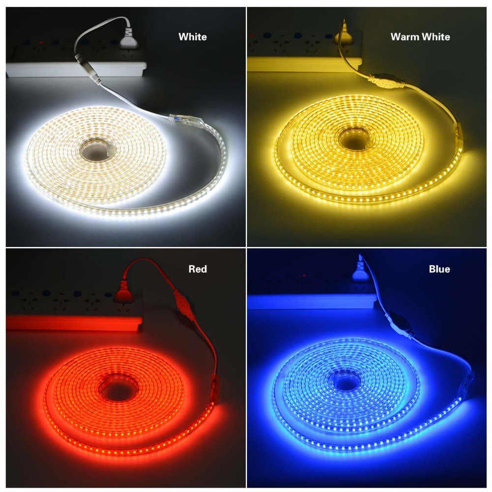 1-28M 220V tira de luz LED 120 leds/M IP67 cinta LED impermeable cinta de diodo DIY guirnalda cocina gabinete lámpara vacaciones Decoración