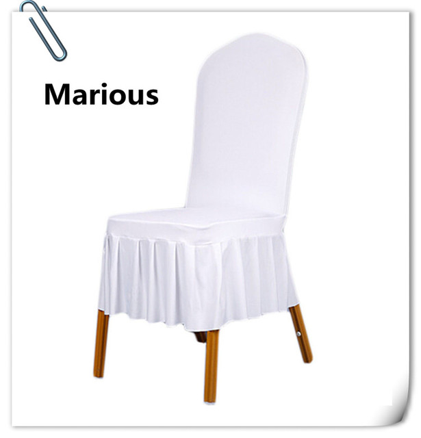 White Universal Chair Covers Massage Reviews 190gsm Material 100pcs Marious Spandex Wholesale Free