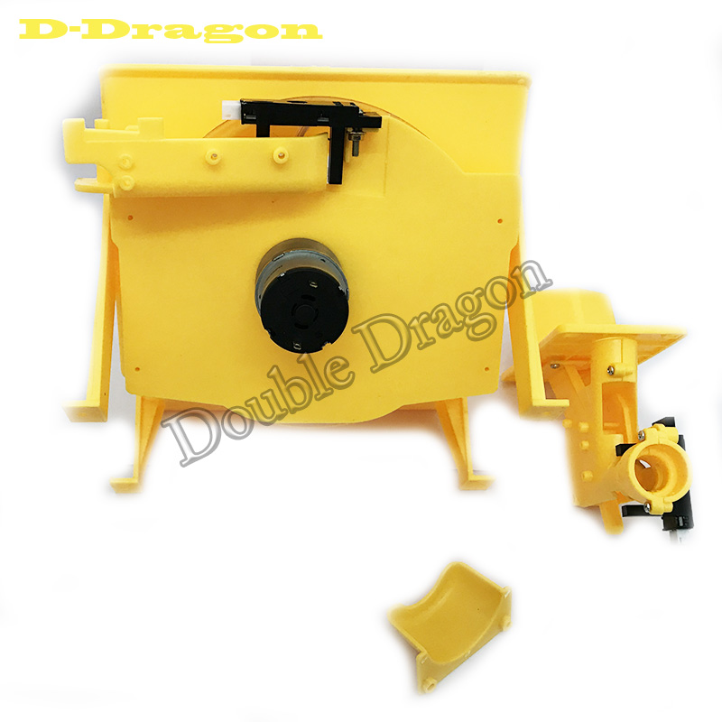 Yellow hopper for Pinball machine trolley pintable trolley big game arcade part image