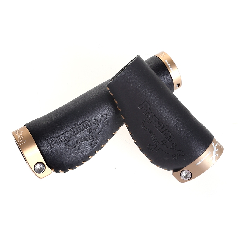 Bicycle Long Short Deform Cycling Bike Handlebar Mtb Leather Anti Skid Aluminum Alloy Lock ring Grips