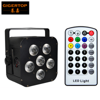 TIPTOP TP B04 Black 6x18w Rgbaw+uv 6in1 Battery Power Wireless DMX LED Par Light for Stage Lighting Infrared Controller CE ROHS