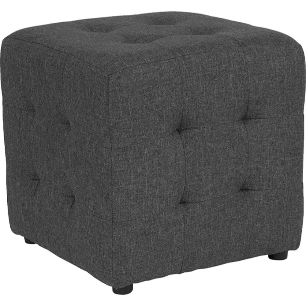 все цены на Avendale Tufted Upholstered Ottoman Pouf in Dark Gray Fabric онлайн