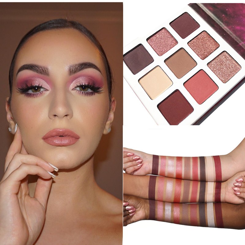 9 Colors/Set NEW make up palette eye shadow The Bronze and Burgundy Palette Cosmetics Matte Eyeshadow Eye Shadow Palette eye shadow
