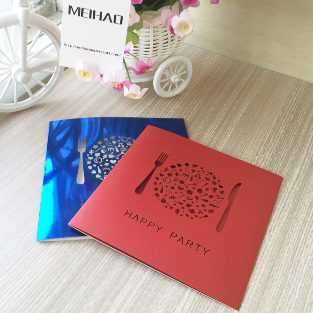 100pcs/lot Laser Cut Wedding Dinner Party Invitation Cards For ...