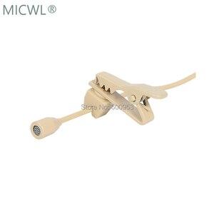 Image 5 - Micro micro cravate omnidirectionnel Beige de haute qualité micro micro pour Shure Audio Technica Sennheise MiPro système sans fil