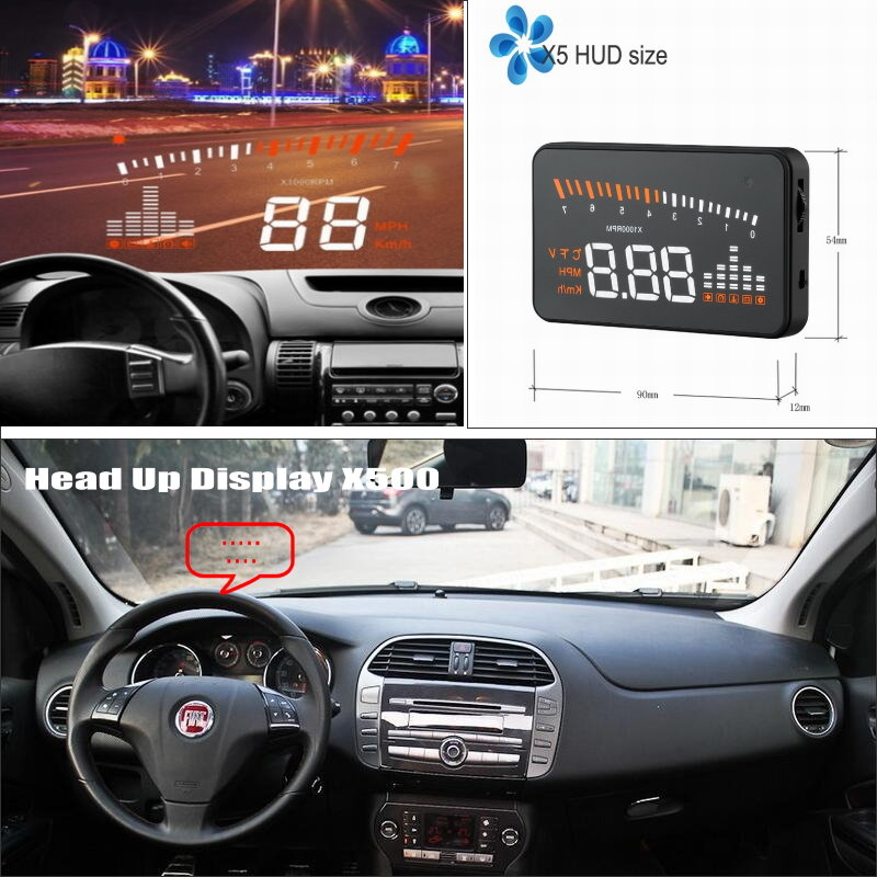 Car HUD Head Up Display For FIAT Bravo / Brava / Ritmo 2007~2015 - Safe Driving Screen Projector Refkecting Windshield liislee car hud head up display for fiat bravo brava ritmo 2007 2015 safe driving screen projector refkecting windshield