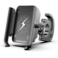 Bicycle Phone Holder 360 Degree Rotating MTB Road Bike Phone Support Aluminium Alloy Handlebar Clip Stand Cycling Accessory