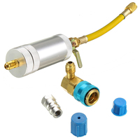 R12 Or R134A Quick Coupler Adapter Kit Durable Car A/C Oil & Dye Injector+Low Filling Tube