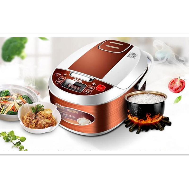 220V AUX 3L Electric Rice Cooker Non-stick Microcomputer Control Coffee Color Multifunctional Rice Cooker EU/AU/UK/US Plug smart mini electric rice cooker small household intelligent reheating rice cookers kitchen pot 3l for 1 2 3 4 people eu us plug
