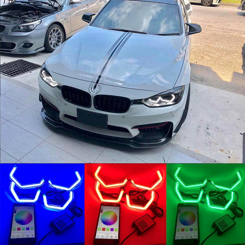 WIFI RGB Multi Color M4 Iconic Style LED Crystal Angel Eye light Kits for BMW 3