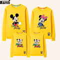 Famli 1pc Family Hoodies Father Son Mother Daughter Autumn Winter Fashion Matching Cartoon Sweatshirt Outfits Mom Kids Clothes