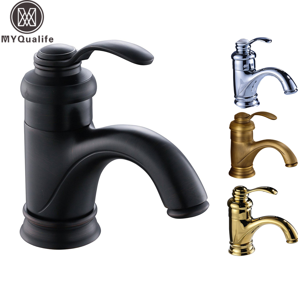 Free Shipping Brass Hot and Cold Basin Faucet Single Handle One Hole Bathroom Black Vessel Sink TapFree Shipping Brass Hot and Cold Basin Faucet Single Handle One Hole Bathroom Black Vessel Sink Tap