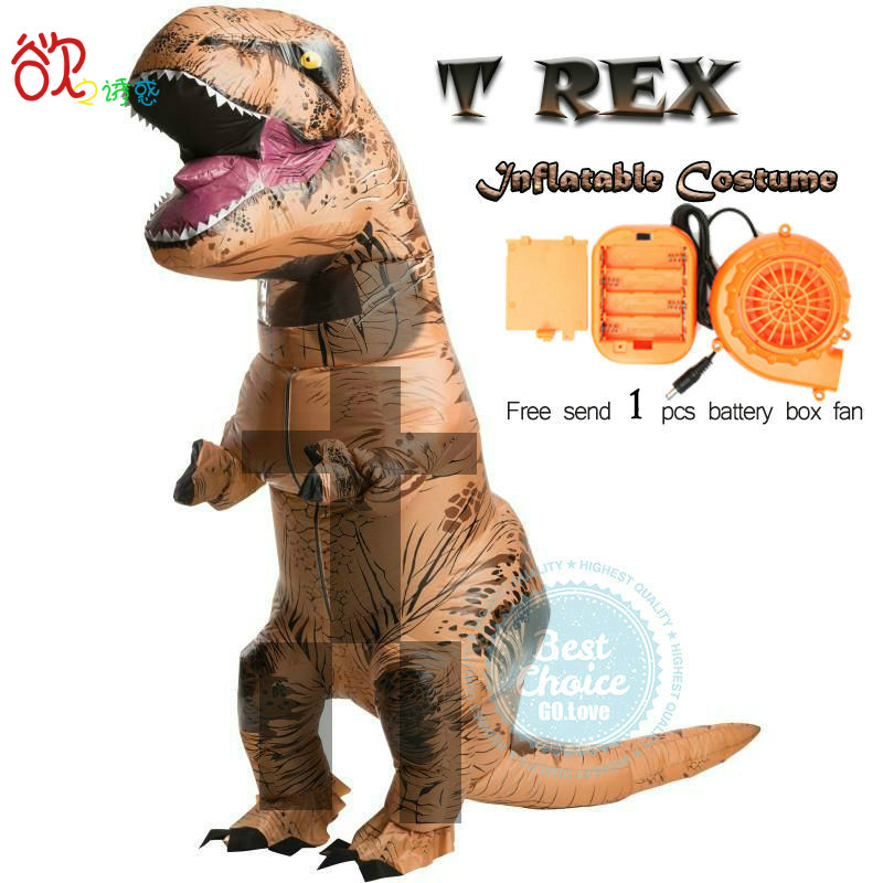 T rex надувные костюмы на Хэллоуин для взрослых и детей динозавров Косплэй Аниме Костюм Бесплатная отправка 1 шт. Электрический насос Вентиля...