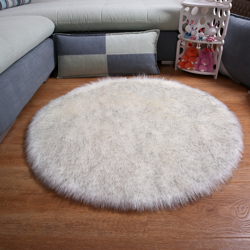 Hairy Carpet Sheepskin Chair Cover Soft Bedroom Faux Mat Seat Pad long Fur Fluffy Area Rugs Washable Artificial Textil
