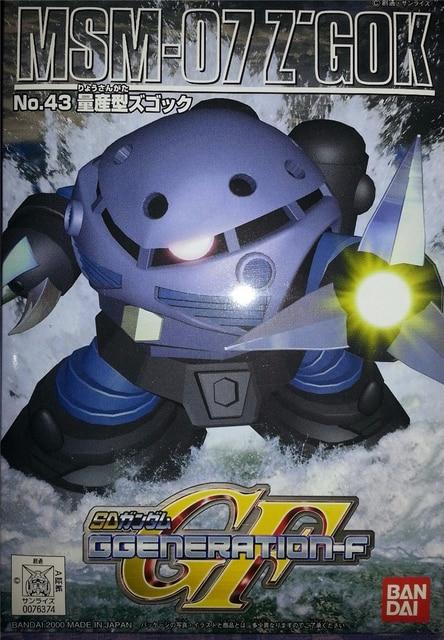 Bandai SD BB GG 43 Gundam 07 ZGOK Mobile Suit Assemble Model Kits Action Figures Childrens toys