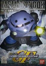 بدلات للهاتف المحمول بانداي SD BB GG 43 Gundam 07 ZGOK بمجموعات نموذجية لألعاب الأطفال