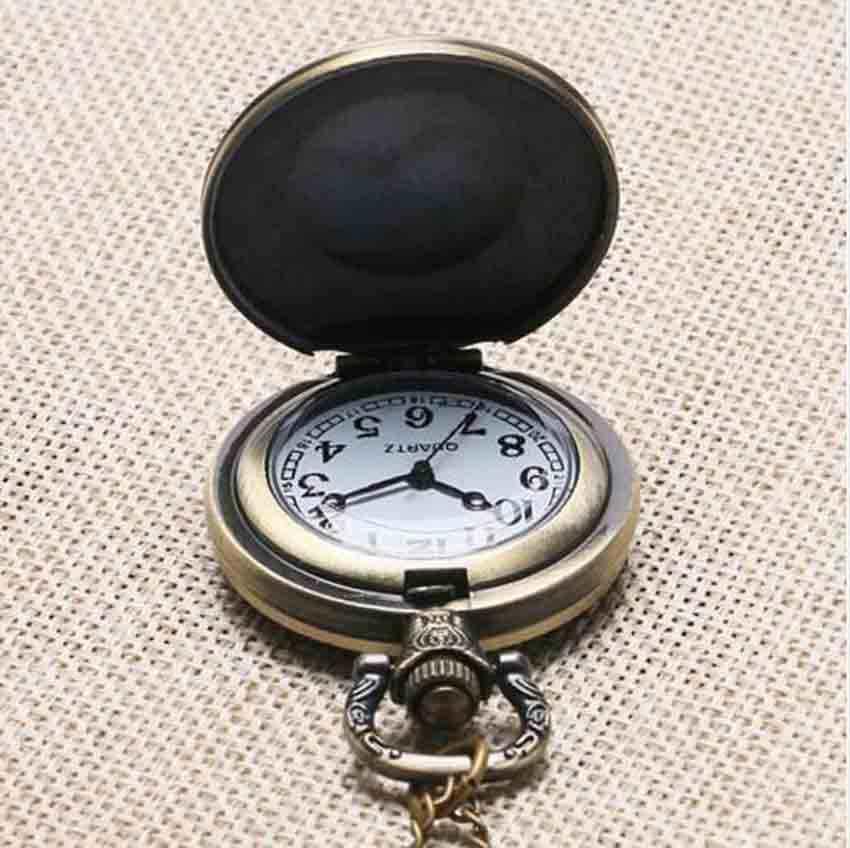 アンティークアニメフルすべて鋼の錬金術師タンククォーツ時計シルバーブロンズブラック腕時計メンズネックレスpoket腕時計コスプレペンダント