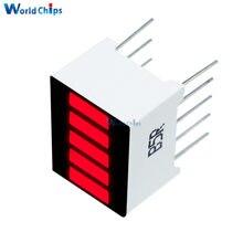 2 Pcs Fai da Te Elettronico Pcb Board 5 Segmento di Colore Rosso 1 Digit Bar Display a Led per Arduino