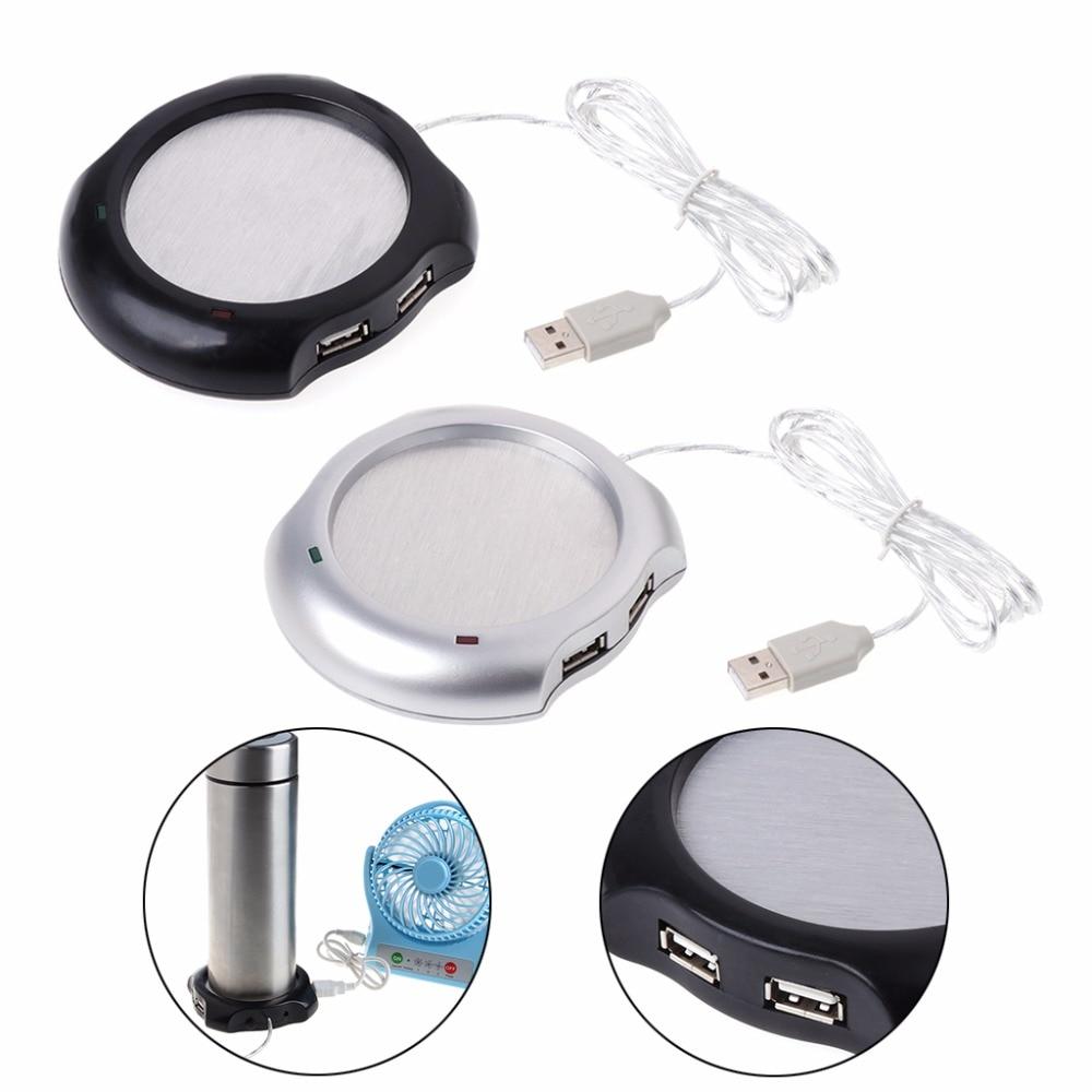 4 USB Hub электрическим приводом подогрева чашек напитка Pad пластины для офиса и дома Применение