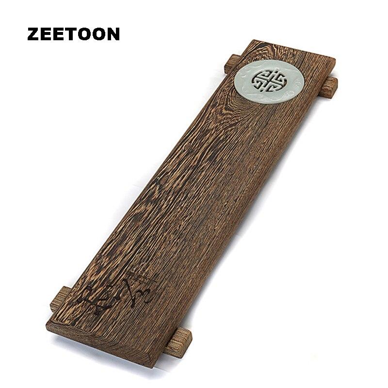 Plateau à thé fait main Zen Style japonais solide wengé bois Kung Fu thé cérémonie plaque créative décor à la maison armoire ornement