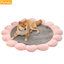 Petshy Pet Dog Cushion Beds Comfortable Soft Cute Cat Sleeping Mattress Blanket Warm Coral Fleece Small Large Dogs Cats Bed Mats