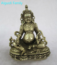 Antique antiques Collectible Decorated Old Handwork Tibet Silver Carved Green Tara  Buddha Statue/ Sculpture