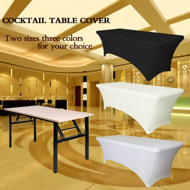 Ourwarm Rectangular Table Cover Spandex Fabric Tablecloth Stretch Bar Bistro For Wedding Party Decorations 183 X