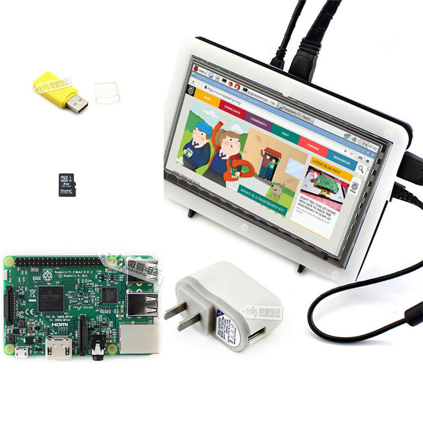 Raspberry Pi HDMI Screen Raspberries Pie 3 Generation Of Type B Band 7 Inch Capacitive Touch