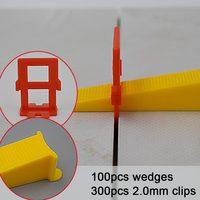 100Wedges 300 2 0mm Clips Clamp Alignment Leveler Gap Installation Plastic Level Kit Tool Floor Spacer