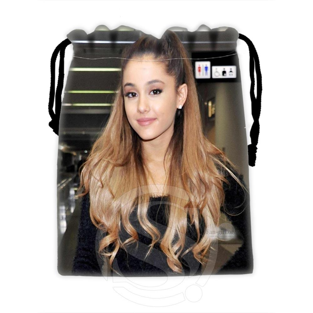 H-P606 Custom Ariana Grande #3 Drawstring Bags For Mobile Phone Tablet PC Packaging Gift Bags18X22cm SQ00806#H0606