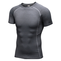 Men sports training PRO T-shirt with short sleeves quick-drying compression shirt perspiration gym fitness running t shirt